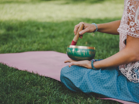 Guided meditation bowls are healing.