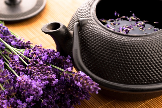 Guided meditation with lavender tea